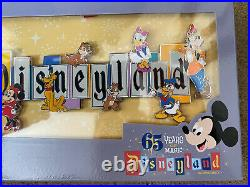 Disneyland Marquee 65th Anniversary Boxed Jumbo Pin LE 1000