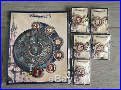 Disneyland Paris 25th Anniversary Countdown Pins Full Set