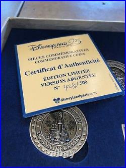 Disneyland Paris 25th Anniversary Pièces Commemorative Coins Limited Argentée