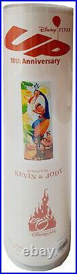 Disneyland Paris Pixar Up Poster Art Print 10th Anniversary Disney Kevin & Jody