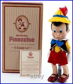 Disneyland Pinocchio 65th Anniversary Porcelain Doll Ltd Ed Coa Signed