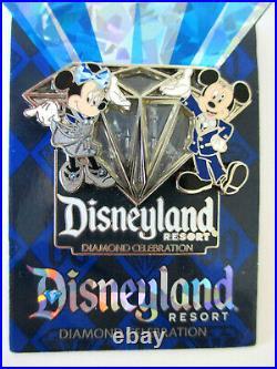 Disneyland Resort 2015 60th Anniversary Diamond Celebration 5 Pin Set On Cards