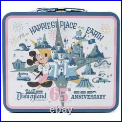 Disneyland Resort 65th Anniversary LOT Backpack Lunchbox Throw Blanket and Pins