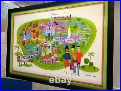 Disneyland Shag 50th Anniversary Disneyland Poster MAP L/E 300 Disney prop sign