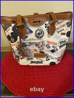 Dooney And Bourke Disneyland Handbag 55th Anniversary Mickey Mouse Retro