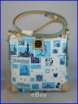 Dooney Bourke Disney DISNEYLAND 60TH DIAMOND ANNIVERSARY Letter Carrier Handbag