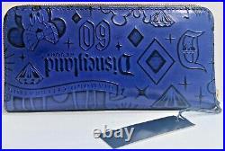 Dooney & Bourke Disneyland 60th Anniversary Diamond Celebration Wallet Blue