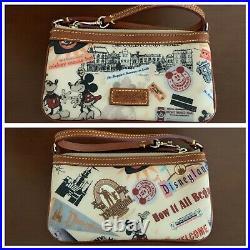 EUC Disney Dooney & Bourke Disneyland 55th Anniversary Wristlet Mickey Minnie