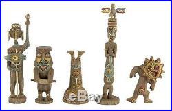 Enchanted Tiki Room Gods Figurine set Disneyland 50th Anniversary LE 1000 MIB