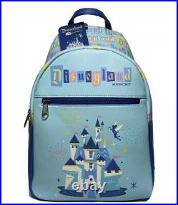 Funko Disney Disneyland Resort 65th Anniversary Mini Backpack Castle Tinkerbell