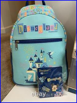 Funko Disneyland 65th Anniversary LOT! Includes Backpack, Lunchbox, Mini Figures