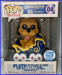 Funko Pop Disneyland 65th Anniversary Pluto AND Goofy Casey Jr Circus Train set