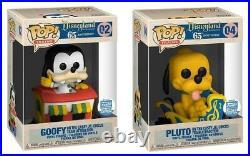 Funko Pop Disneyland 65th Anniversary Train Car Goofy + Pluto Bundle LIMITED