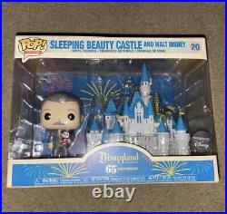 Funko Pop! Disneyland 65th Anniversary Walt Disney Mickey Mouse Castle Set NIB