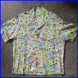 Green Shag Disneyland Le 500 50th Anniversary Shirt New Mens Size XXL