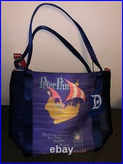 Harveys Disney Disneyland 60th Anniversary Fantasyland Peter Pan Poster Tote