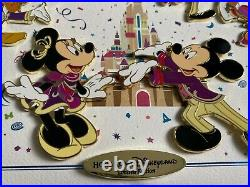 Hong Kong Disney pin HKDL 15th Anniversary pin set with frame LE150