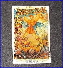 LE Disney Pin Original Framed Movie Poster Anniversary Hercules Megara Meg Phil