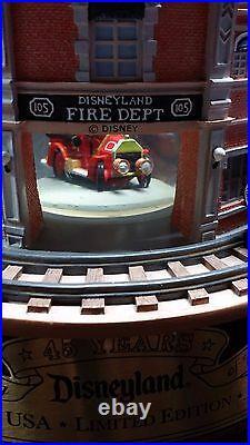 Limited Edition Disneyland Main Street 45th Anniversary Snowglobe Mickey Fireman