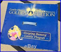 NEW Disneyland Golden 50th Anniversary Sleeping Beauty Castle playset FREE SHIP