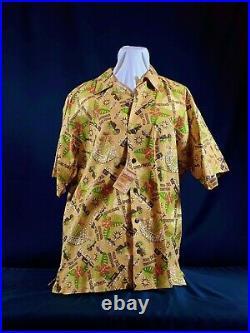 NEW! Tiki Room Aloha Shirt LE 500 SHAG Josh Agle Disneyland 50th Anniversary