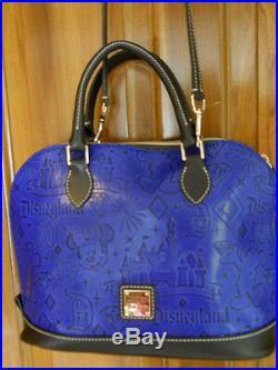 NWT Disney Dooney & Bourke Disneyland 60th Anniversary Blue Leather Satchel