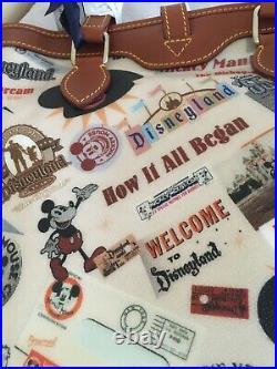 NWT Disney Dooney & Bourke Walt Disneyland Bucket 55th Anniversary Mickey Mouse