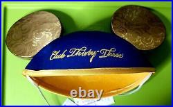New 2020 Disneyland CLUB 33 Mickey Mouse Ears 65th Anniversary
