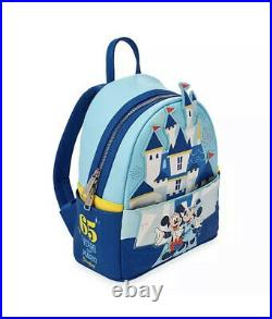New Rare 2020 Disney Parks Disneyland 65th Anniversary Loungefly castle Backpack