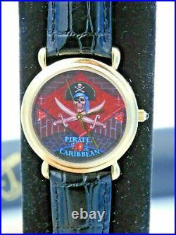 RARE Disney land Art Pirates Of the Caribbean 40th Anniversary Wrist Watch Mint