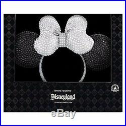 RARE Disneyland Diamond 60th Anniversary crystal-studded Minnie Mouse ears, NIB
