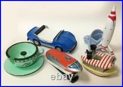 Rare! 2005 Disneyland 50th Anniversary 5-piece Desk Set! Monorail, Jungle Cruise