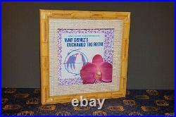 Repro Disney Disneyland Club 33 Enchanted Tiki Room 50th Anniversary Framed Prop