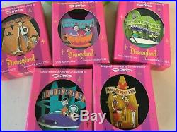 SHAG Josh Agle Disneyland 50th Anniversary Plates and Jumbo pins sets NEW