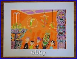 Shag Art Liltho / Disney, Disneyland, Enchanted Tiki Room 40th Anniversary Rare