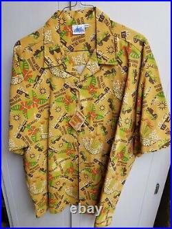 Shag Disneyland 40th Anniversary Enchanted Tiki Room Aloha Shirt New Size XXL