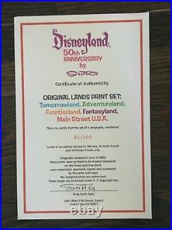 Shag Disneyland 50th Anniversary Serigraph Set