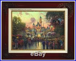 Thomas Kinkade Disneyland 50th Anniversary Canvas Classic (Brandy Frame)