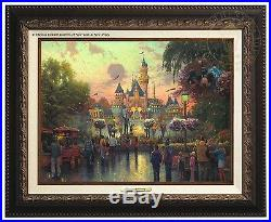 Thomas Kinkade Disneyland 50th Anniversary Canvas Classic (Bronze Frame)
