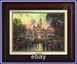 Thomas Kinkade Disneyland 50th Anniversary Canvas Classic (Burl Frame)