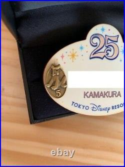 Tokyo Disney Land Resort Cast member Name Tag 25th Anniversary Pin Badge Brute