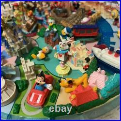 Tokyo Disneyland Diorama Figure 25th Anniversary Set Rare Mickey Donald Duck F/S