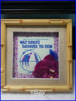 VERY RARE Disneyland Club 33 Enchanted Tiki Room 50th Anniversary Framed Prop